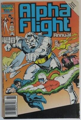 1986 Alpha Flight Annual #1   -  Vg                        (Inv19183)