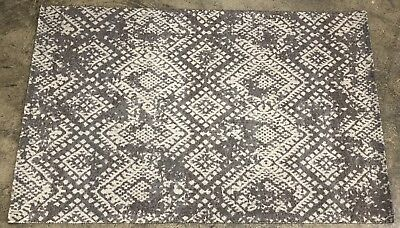 Pottery Barn Gray Zahara Synthetic Rug 5x8