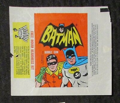 1966 BATMAN & ROBIN TV Show Trading Cards Wrapper VG/FN 5.0