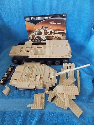 Mega Bloks M1a1 Abrams Army Tank Replacement Parts Instruction
