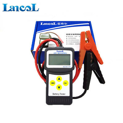 12V  Digital Automotive Car Battery Tester Analizzatore con funzione di stampa