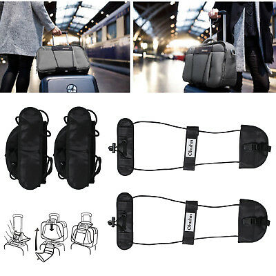 2x Adjustable Tape Belt Add A Bag Strap Carry On Bungee Travel Luggage Suitcase