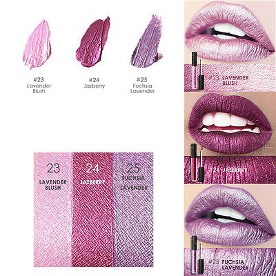 FOCALLURE Waterproof Metallic Metal Lipstick Lip Gloss Liquid Makeup Lipstick US