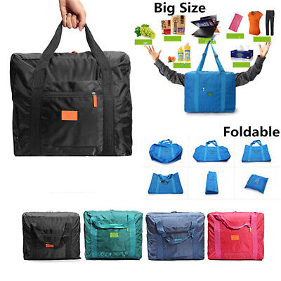 Waterproof Big Travel Storage Luggage Carryon Foldable Organizer Hand Duffle Bag