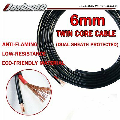 6mm 9AWG Twin Core Insulated Cable Dual Sheath Battery Copper Wire 9B&S 12-24V