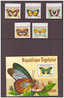 Togo MNH 1982 Butterflies set sheet mint stamps
