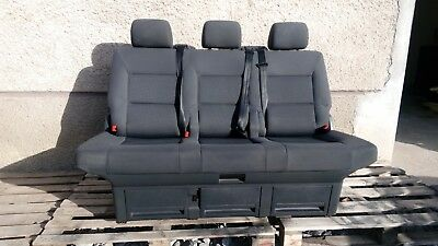 Wondrous Triple Bench Seats Seat Bed Vw T5 Anthracithe Caravelle Ibusinesslaw Wood Chair Design Ideas Ibusinesslaworg