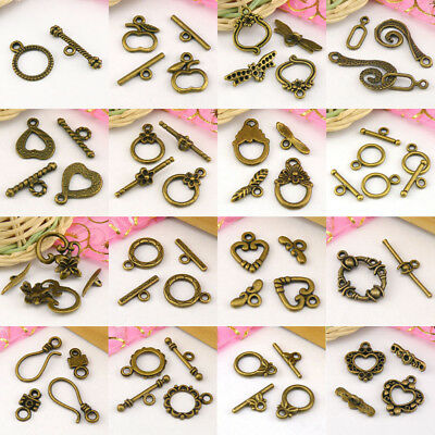 Antiqued Bronze Toggle Clasps Connectors Necklace Jewelry Making DIY R2003