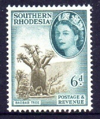 1953 SOUTHERN RHODESIA DEFINITIVES 6d baobab tree SG84 mint unhinged