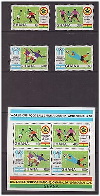 Ghana MNH 1978 Football Championships Wold cup mint  set stamps