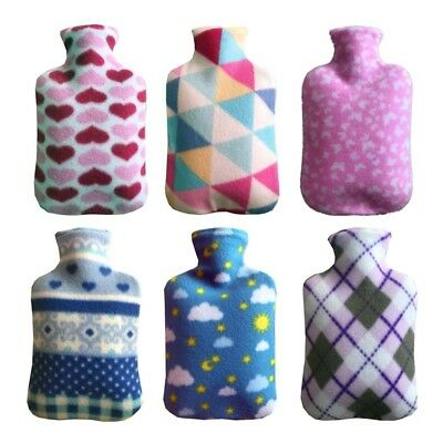 2000ml Fleece Hot Water Bottle Bag Cover Hand Warmers Home Office Therapy