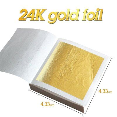 30X Edible Pure 24K Gold Leaf Foil For Arts Food Facial Spa Decor Gilding Craft
