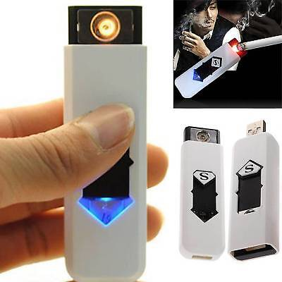USB Electric Battery Rechargeable Flameless Collectible Lighter Cigarettes UK
