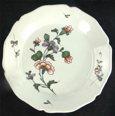 N655 ANTIQUE 18TH CENTURY FRENCH FAIENCE PLATE LA ROCHELLE a