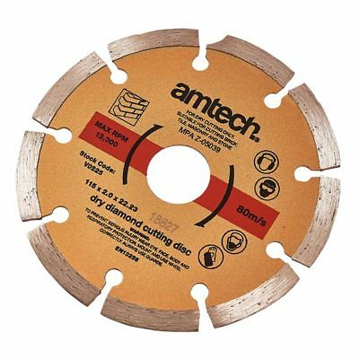 Am-Tech 115mm Precision Diamond Cutting Disc High Quality For Grinders