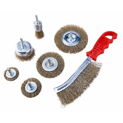 Am-Tech 7 Pieces Wire Brush Set For Cleaning Rust Paint Removing