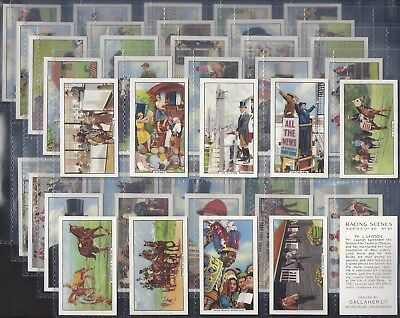 Gallaher-Full Set- Racing Scenes (48 Cards) Horse Racing - Exc