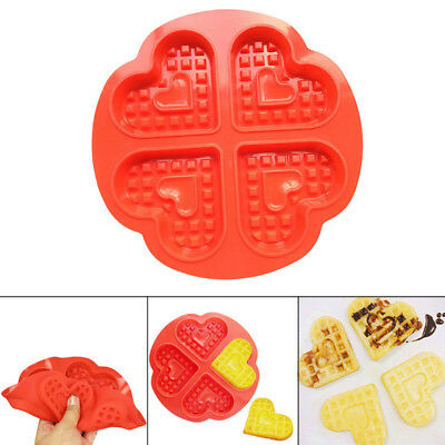 Waffle Mold Bakeware Silicone Waffle Baking Molds Love Heart Shape Muffin Mould