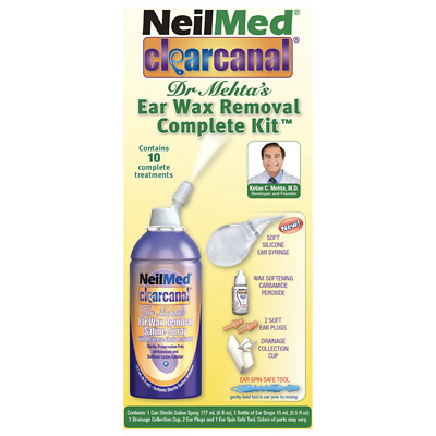 NEW NeilMed Clear Canal Dr Mehta's Ear Wax Removal Complete Kit 10 Treatments