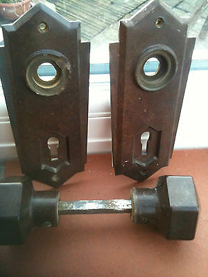 Art-deco Bakelite Door knobs - one set