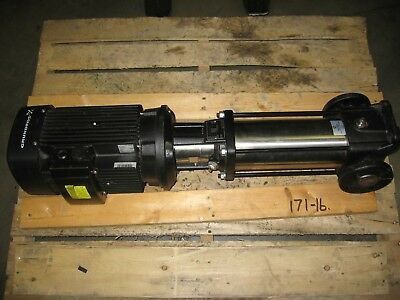 Grundfos CR5-12 A-FGJ-A-E-HQQE Vertical Pump 12-Stage 5hp 3-Phase 208/230/460