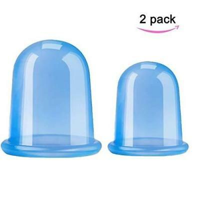 2 Pack Anti Cellulite Cups Vacuum Silicone Cupping Face Body Massage Cup Set NEW