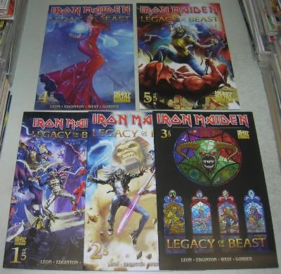 IRON MAIDEN LEGACY OF THE BEAST 1 2 3 4 5 COMPLETE SET (Heavy Metal 2017) (VF-)