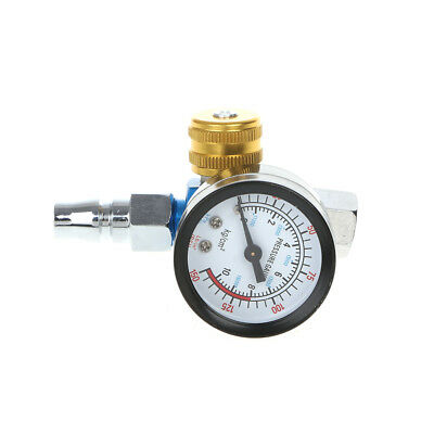 1/4'' BSP HVLP Spray Gun Air Regulator Tool Pressure Gauge Diaphragm Control