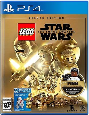 Playstation 4 Ps4 Game Lego Star Wars The Force Awakens Deluxe Edition New