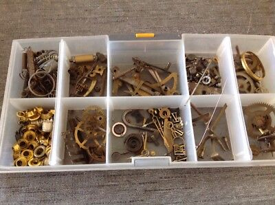 Clockmakers Spare Parts Collection Springs Cogs Grommets Screws