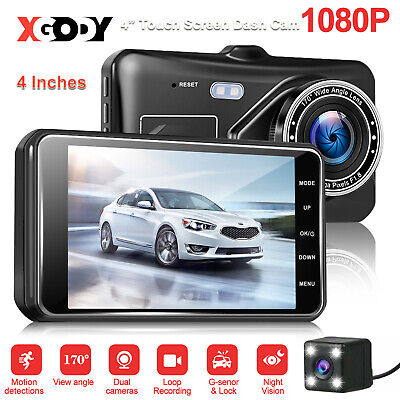 4'' Touch HD 1080P Car DVR Dual Lens Dash Cam Video Camera Recorder Night Vision