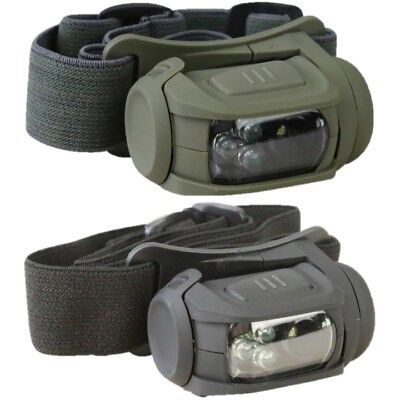 Tactical Predator Headlamp Ii Led Head Torch White Red Light Molle Cadet Army