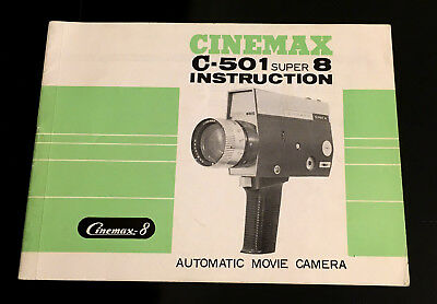 Original Cinemax C-501 super 8 Instruction Manual