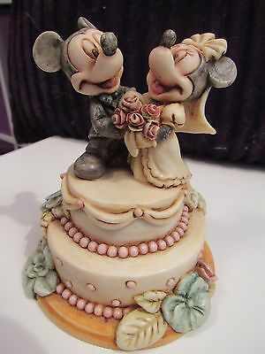 Harmony Kingdom Disney Mickey Mouse & Minnie Fairy Tale Wedding Cake Lim Ed 500