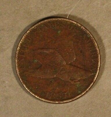 1857 Flying Eagle Cent Porous Circulated                ** FREE U.S. SHIPPING **