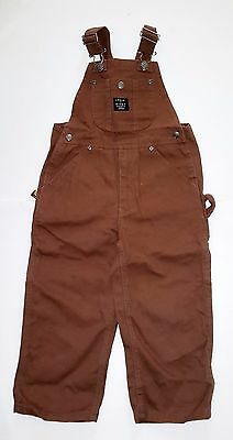 Lakin McKey Child's Duck Brown Overalls 4 T & 8 Available by Key Work Clothes