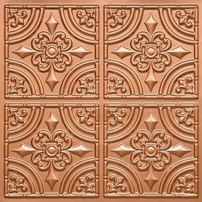 # 205 (Lot of 5)  PVC Faux Tin Decorative Ceiling Tile Panels Glue-Up / Grid