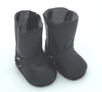Doll Shoes - Black Boots for Baby Born / Baby Alive