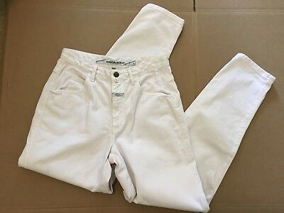 Women's Marithe Francois Girbaud Mom Jeans 9 / 10 White VINTAGE Pants High Waist