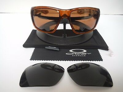 b1fe72b4bad New Oakley Big Taco Sunglasses OO9173-05 Brown Frame+Extra Black Lens