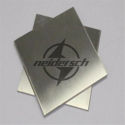 New 1pcs 2mm x 100mm x 100mm 304 Stainless Steel Fine Polished Plate Sheet