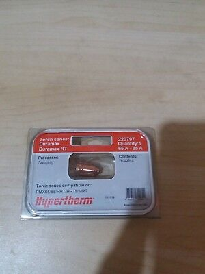 Pack of 5 Genuine - Hypertherm Powermax 65A-85A Gouging Nozzles 220797
