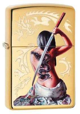 Zippo Windproof Lighter, Dragon Lady Sword, Designed By Mazzi 29668, New In Box