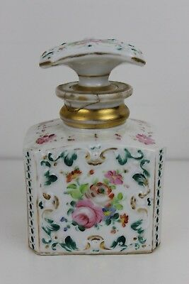 Antique French Old Paris Hand Painted Porcelain Perfume Bottle 16x10x8cm