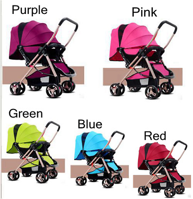 Baby Stroller for Newborn Infant High View Pram Foldable Pushchair