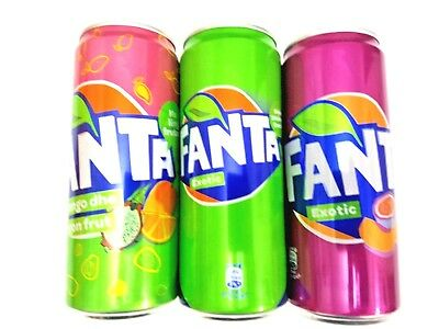 2 Fanta Exotic Cans From Albania & Kosovo Limited Edition Collection Empty 330ml