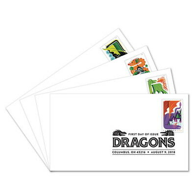 USPS New Dragons First Day Cover (Set of 4)