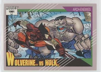 1991 Impel Marvel Universe Series 2 #108 Wolverine vs Hulk Non-Sports Card 1k3