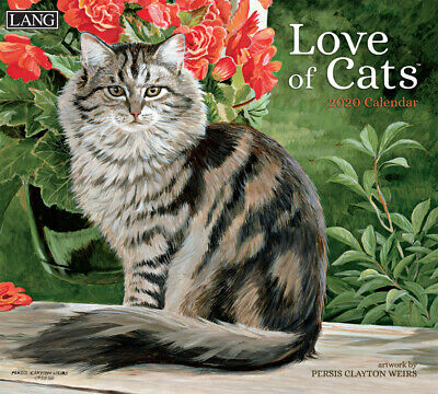 NEW Love of Cats Persis Clayton Weirs 2019 Lang Wall Calendar Packed Well