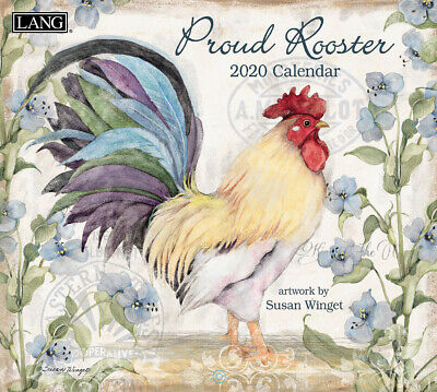 NEW Proud Rooster Susan Winget 2019 Lang Wall Calendar Packed Well Free Postage